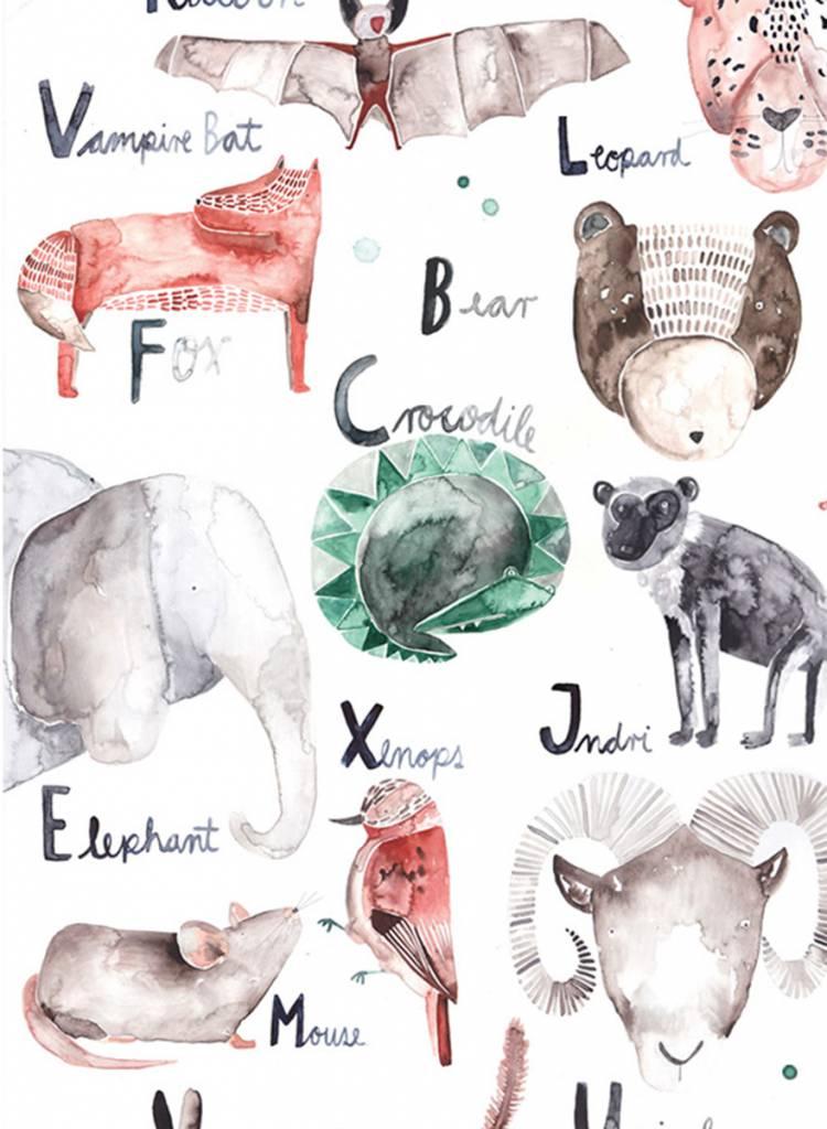 Gretas Schwester Poster Alphabet I Hand illustrated poster for kids