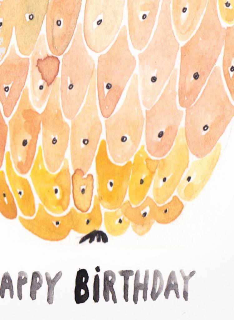 "Gretas Schwester Card ""Happy Birthday"" I Hand illustrated greeting card"