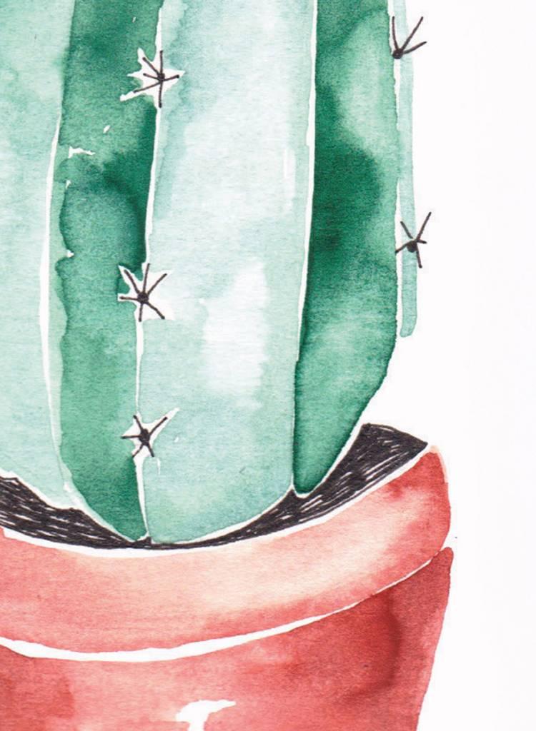 "Gretas Schwester Card ""Cactus"" I Hand illustrated postcard"
