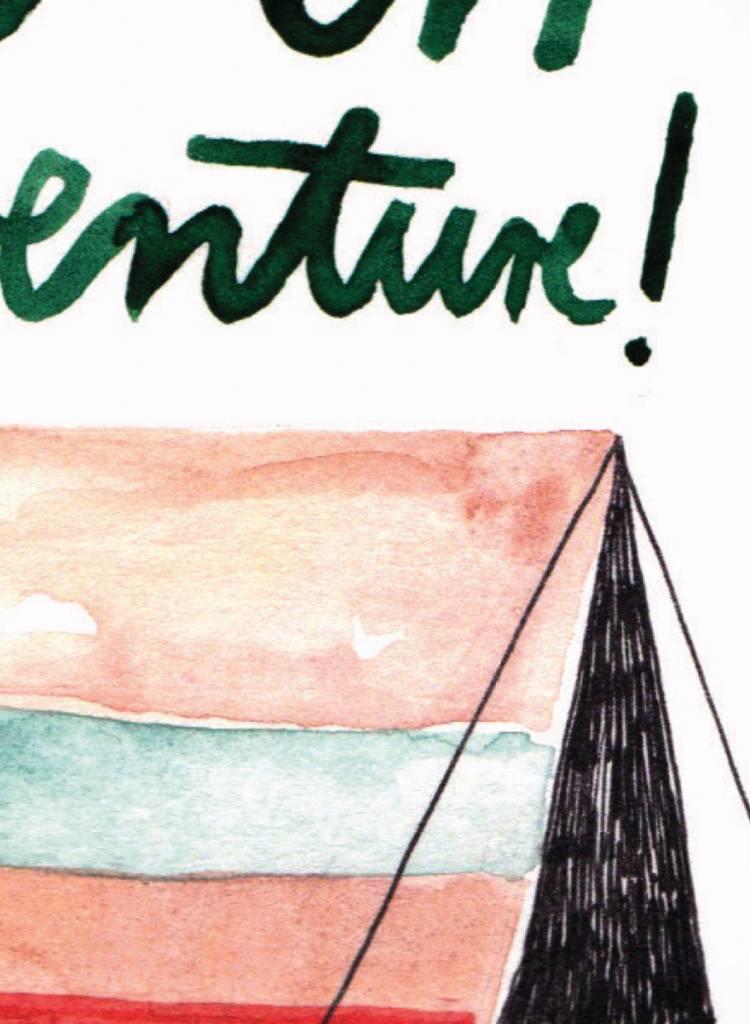 """Gretas Schwester Card """"Let´s go"""" I Hand illustrated postcard"""