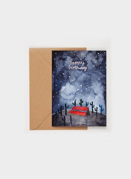 "Gretas Schwester FOLDING CARD ""HAPPY BIRTHDAY"""