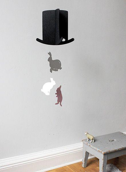 Jäll & Tofta Mobile Mr. Magic I Mobile mit Hut-und bunten Hasen