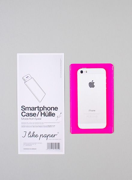 I like Paper Smartphone Case pink I Case made of Tyvek for all mobile sizes, water- and tearproof