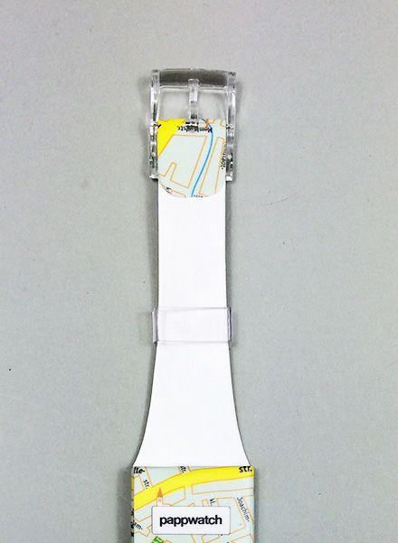 I like Paper Pappwatch I aus wasserabweisendem Tyvek mit Digitalanzeige