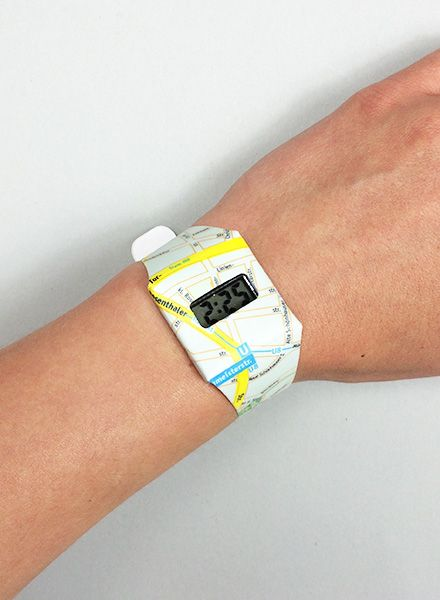 I like Paper Pappwatch I made from waterproof Tyvek