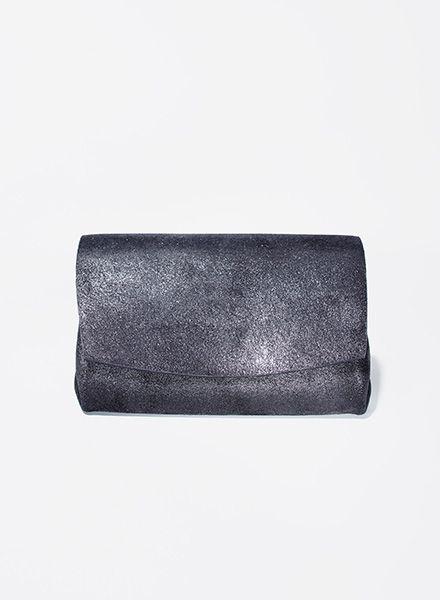"""Matke Geldbörse Starlight """"Mini Wallet"""" aus feinem italienischem Wildleder mit Glitzer"""
