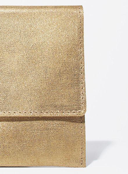 """Matke Handtasche Starlight """"Simple Clutch"""" aus feinem italienischem Wildleder mit Glitzer"""