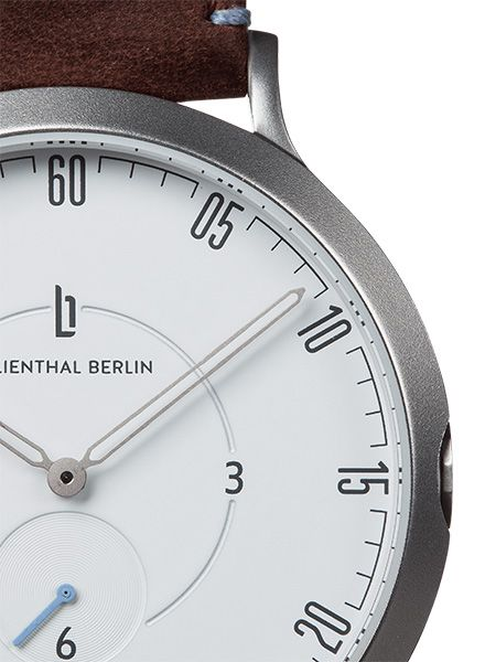"Lilienthal Watch L1 silver I Designed in Berlin - ""Made in Germany"""