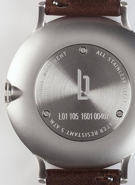 """Lilienthal Armbanduhr L1 silber I Designed in Berlin - """"Made in Germany"""""""