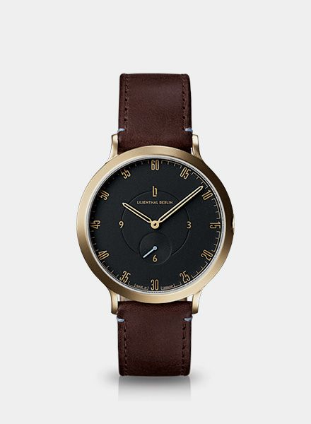 """Lilienthal Watch L1 gold I Designed in Berlin - """"Made in Germany"""""""