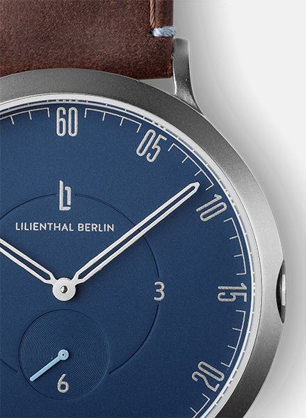 """Lilienthal Watch L1 silver I Designed in Berlin - """"Made in Germany"""""""