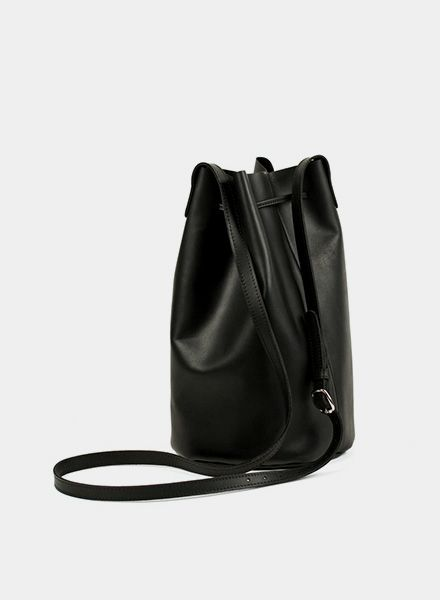 Marin et Marine Black Purse handcrafted of ecological tanned leather