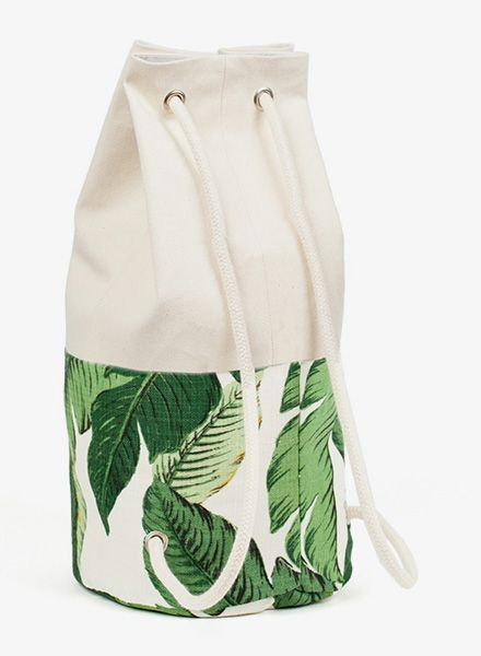 """Marin et Marine Backpack """"Sac Marin"""" size L with palm-pattern/ LIMITED EDITION"""