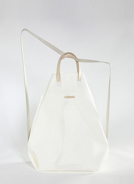"""Hänska Backpack """"Moire White"""""""