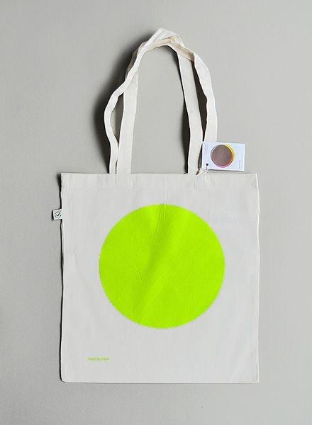 """Kolor Tote bag """"Neon Dot"""""""