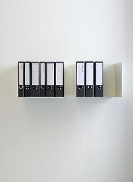 "Linea1 Ordner-Regal ""Linea1_c"" - aus feuerverzinktem Stahl"