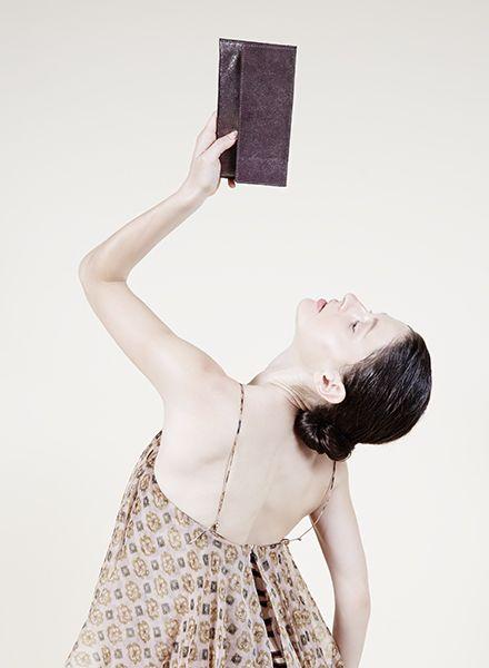 """Matke Handtasche Starlight """"Simple Clutch """" aus feinem italienischem Wildleder mit Glitzer"""