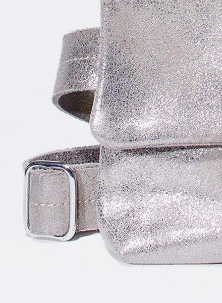 """Matke Hip bag """"Starlight"""" made of soft italien suede leather with glitter finish"""