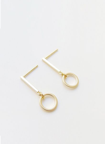 "SIBYLAI Ohrringe ""No.6 Gold"" hergestellt aus vergoldetem Silber"