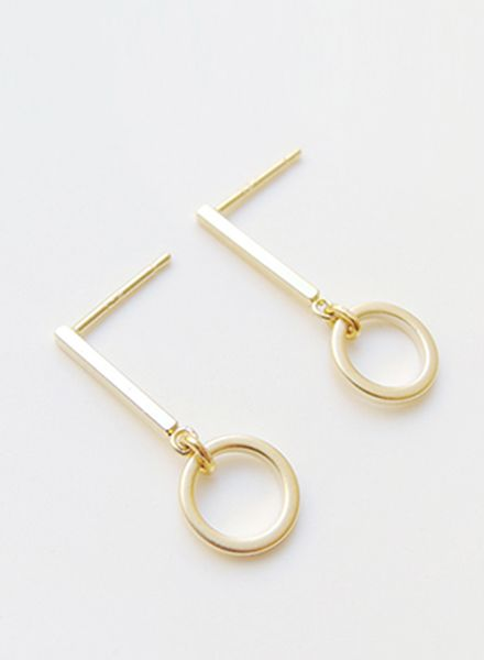 """SIBYLAI Earring """"No.6 Gold"""" made of gold plated silver"""