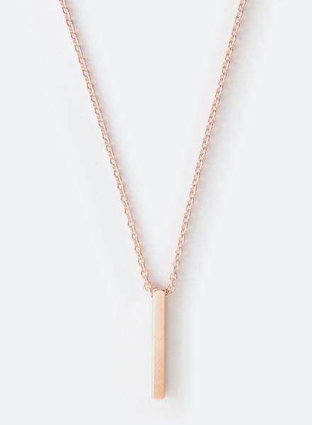 """SIBYLAI Necklace """"Bar rose"""""""