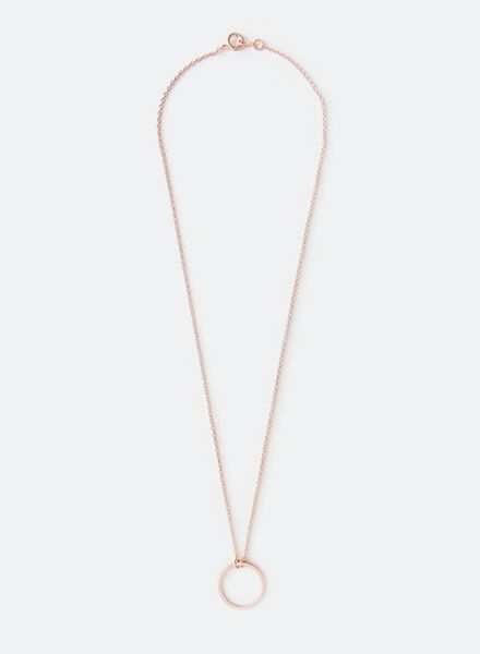 """SIBYLAI Necklace """"Circle Rose"""" made of gold plated silver - rosegold"""