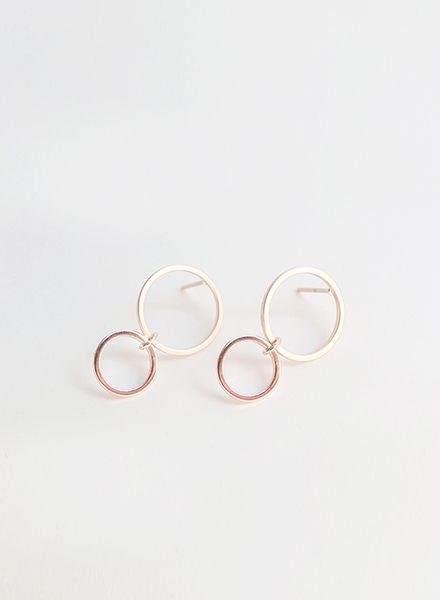"SIBYLAI Ohrringe ""No.3 Rosegold"" hergestellt aus vergoldetem Silber"