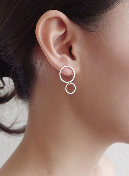 """SIBYLAI Earring """"No.3 Rosegold"""" made of gold plated silver"""