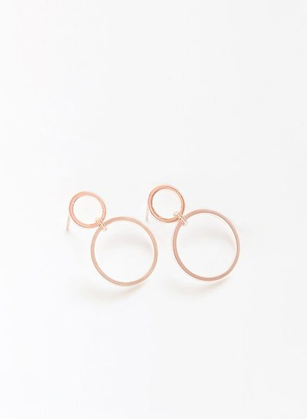 """SIBYLAI Earring """"No.2 Rosegold"""" made of gold plated silver"""