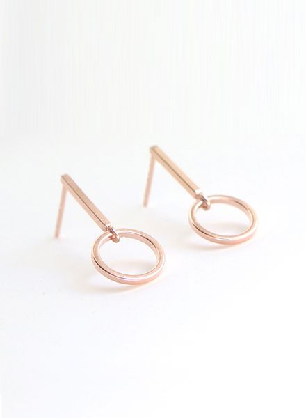 """SIBYLAI Earring """"No.1 Rosegold"""" made of gold plated brass"""