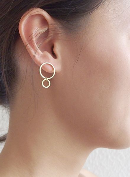 """SIBYLAI Earring """"No.4 Gold"""" made of gold plated silver"""