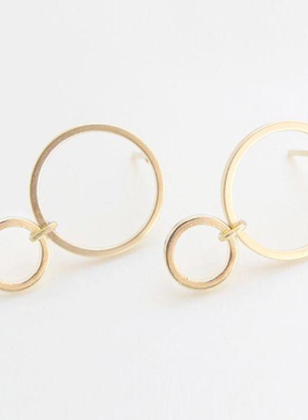 "SIBYLAI Ohrringe ""No.4 Gold"" hergestellt aus vergoldetem Silber"