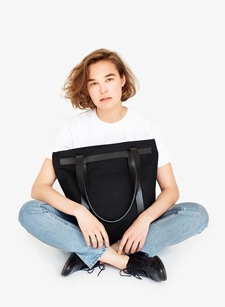 "Sarah Johann ""Skagen"" Black can be carried as tote bag and backpack"