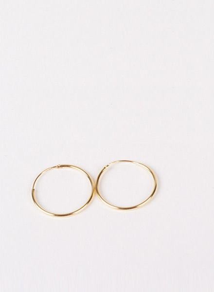 """Jukserei Earring """"Hoops"""" Gold made of 925 sterling silver, 24k gold plated"""