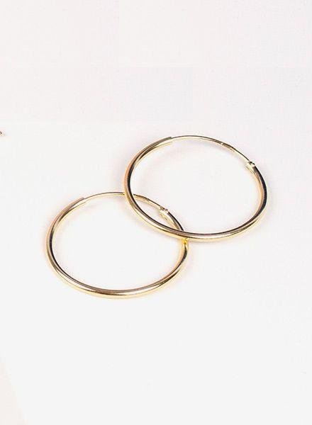 """Jukserei Ohrringe """"Hoops"""" Gold - hergestellt aus 925er Silber vergoldet mit 24 Karat"""