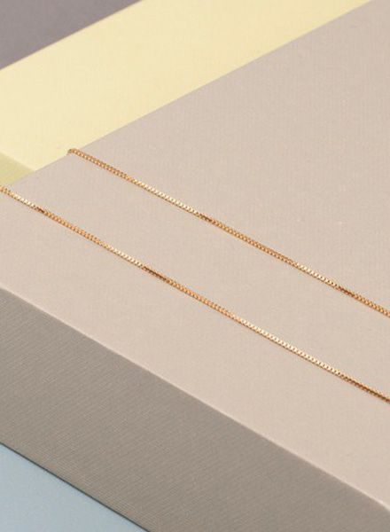 """Jukserei Necklace """"Smooth"""" Gold is made of gold plated 925 sterling silver"""