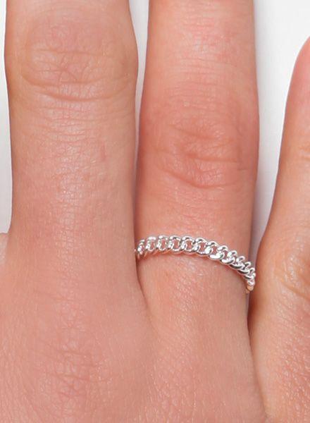 """Jukserei Ketten-Ring """"Grumetta"""" Silber - handgefertigt aus 925er Sterling Silber"""