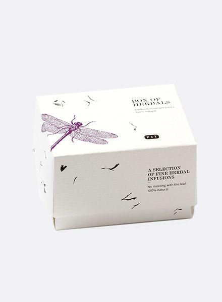 Paper & Tea Tee Box of herbals I Kräuter-Tee verpackt in 6 individuellen Probe-Packungen