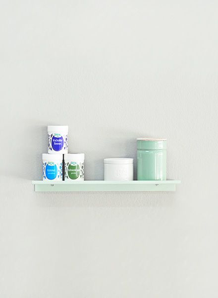 "Kolor Wall shelf ""Z-shelf"" - Shelf mint powder coated"