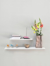 "Kolor Wall shelf ""Z-shelf"" white"