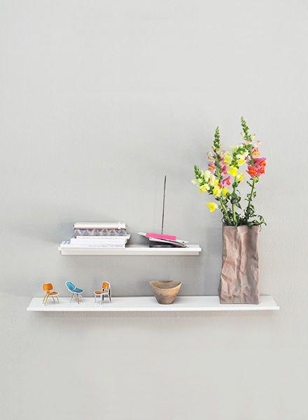 "Kolor Wall shelf ""Z-shelf"" white"