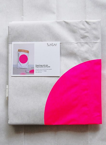 """Kolor Paper Bag """"Dot"""" - Durable bag for storage made of reinforced paper"""
