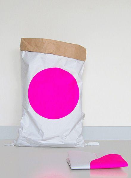 """Kolor Papiersack """"Dot"""" - Langlebiger Aufbewahrungssack aus Altpapier"""