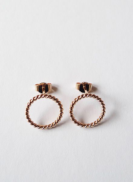 """Felicious Earrings """"Twisted"""" - 925 Silver with polished surface and plated with 750 Gold"""
