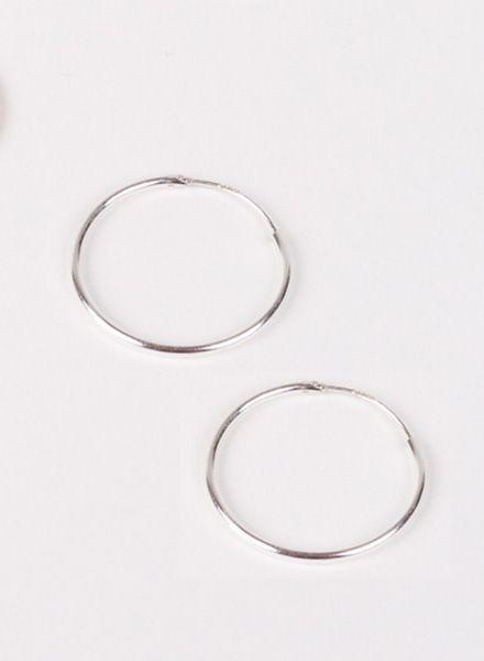 "Jukserei Ohrringe ""Hoops"" Silber - hergestellt aus 925er Sterling Silber"