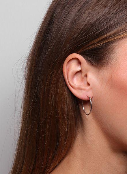 "Jukserei Earring ""Hoops"" Silver made of 925 sterling silver"