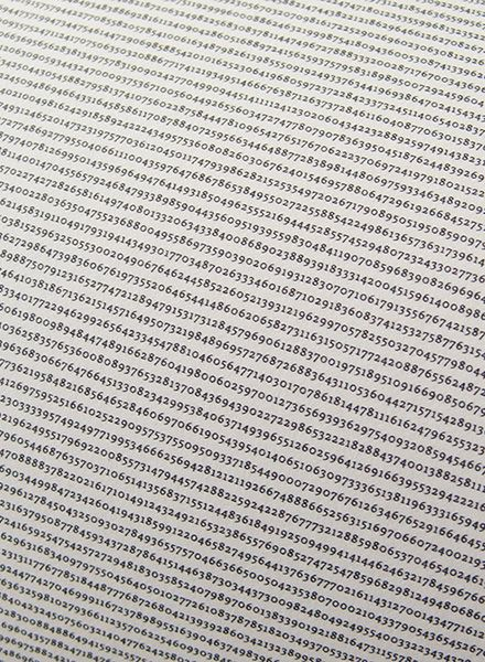"""All The World´s ... Number """"Pi""""- printed with over 1 million decimals on a single poster"""