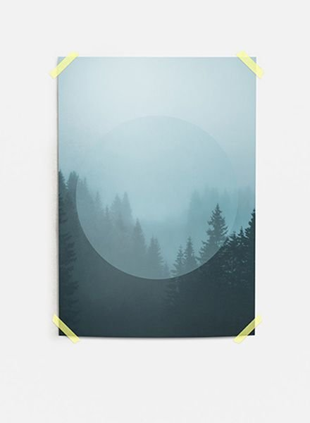 """Mania Poster """"Forest"""" Turquois"""