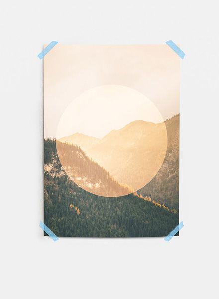 "Mania Poster ""Landscapes Circular 2 Mountain"" - Moderner Kunstdruck"