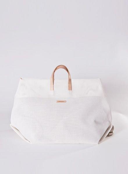 """Hänska Bag """"Weekender"""" White"""